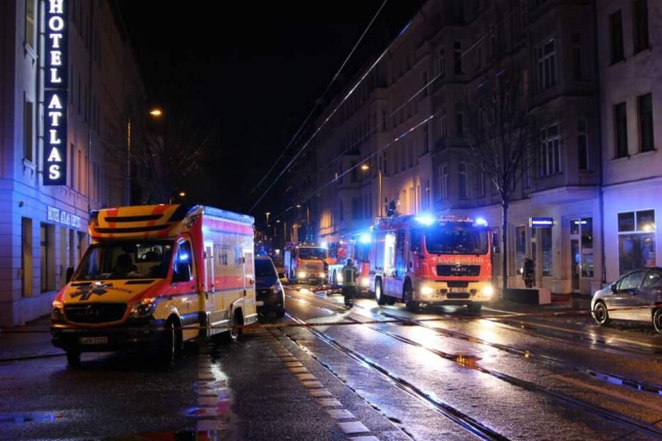 Am Sonntagmorgen brannte es wieder einmal auf der Eisenbahnstraße.