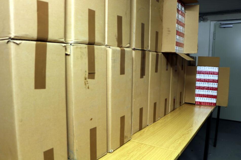 200.000 Zigaretten waren in den Kartons.
