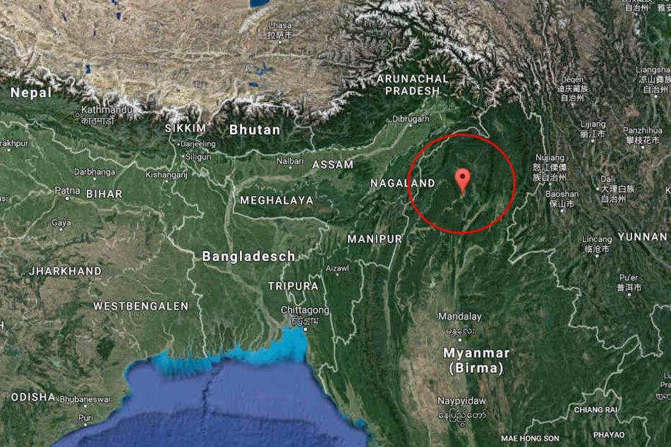 Im Norden Myanmars ist ein mysteriöses Metallteil vom Himmel gefallen.