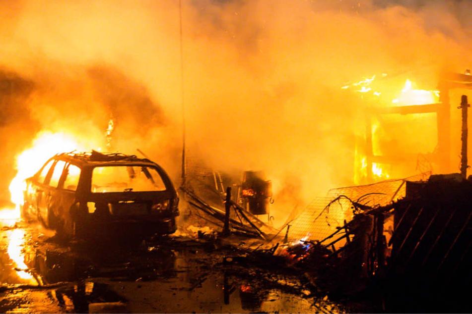 Ein Großbrand in Heidesheim-Uhlerborn beschäftigte die Feuerwehr.