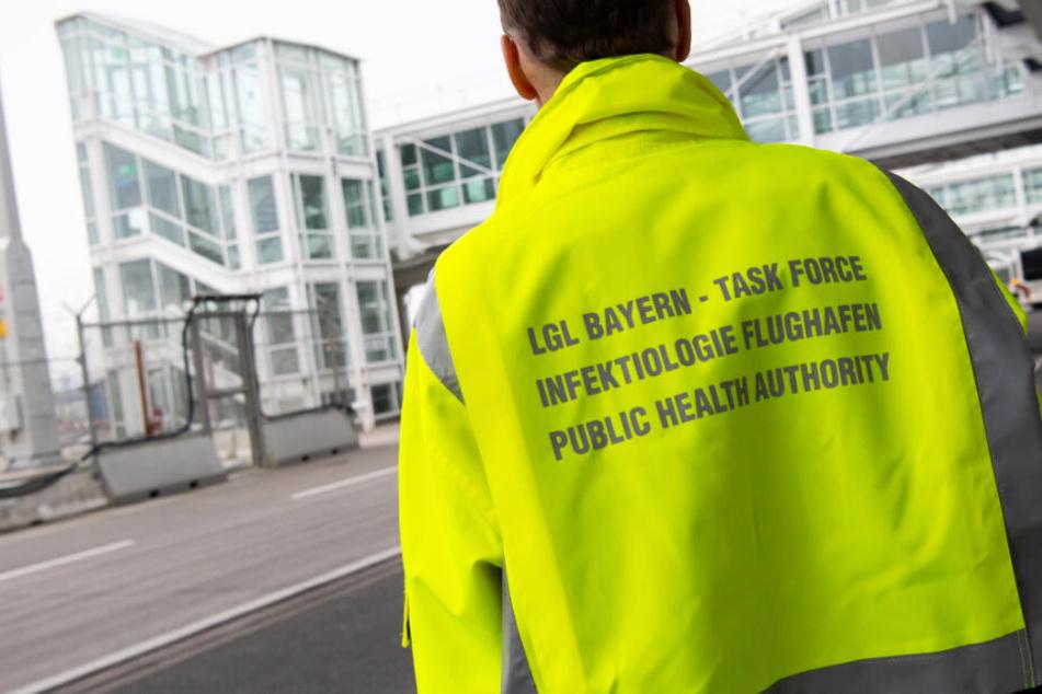 """Eine """"Task-Force Infektiologie"""" am Münchner Flughafen ist in Rufbereitschaft."""
