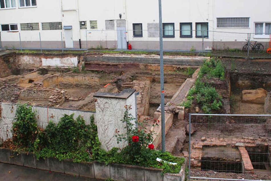 Die Grabung im Hinterhof ist abgeschlossen. Jetzt kann hier das neue Marktquartier entstehen.