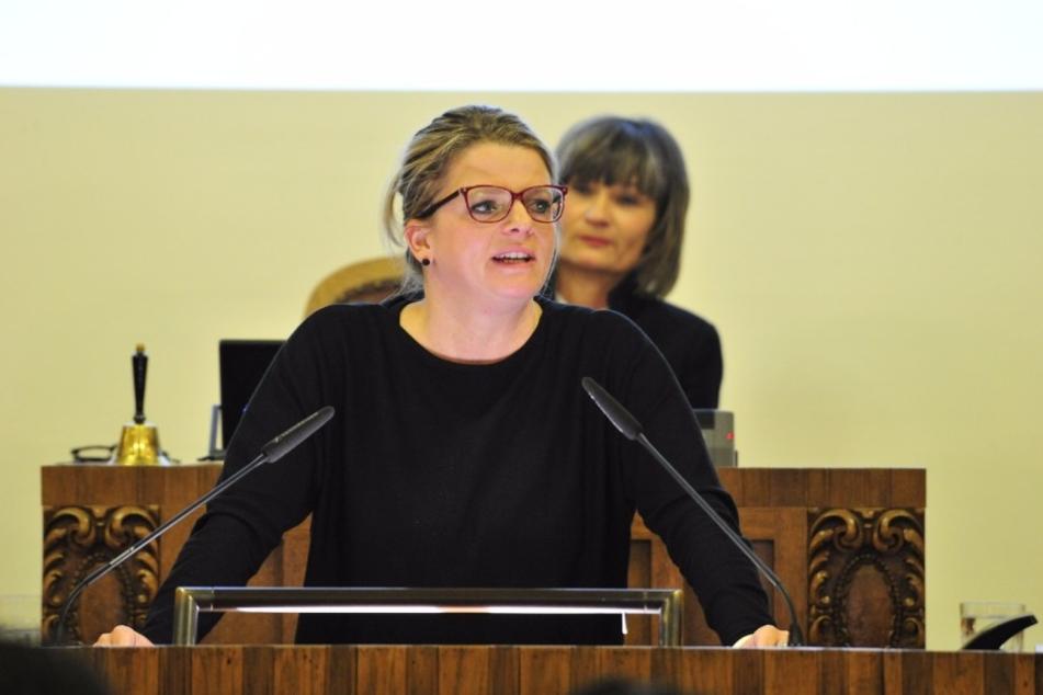 Susanne Schaper (38), Fraktionsvorsitzende der Linken