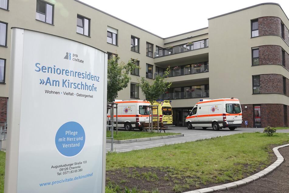 """Im Chemnitzer Altenpflegeheim """"Am Kirschhof"""" wurden insgesamt 19 Personen positiv auf Corona getestet."""