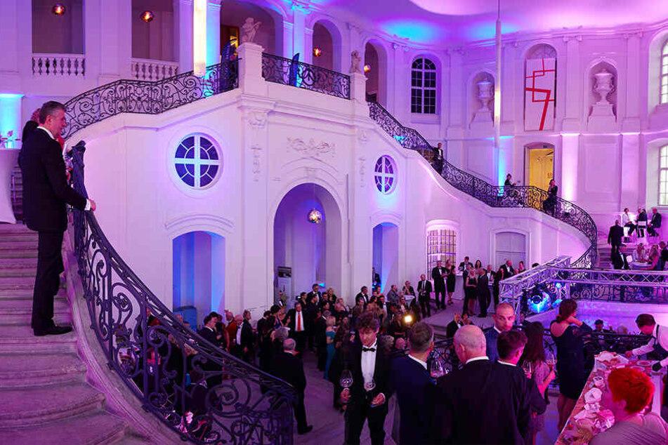 """Das Dresdner Landhaus, Sitz des Stadtmuseums, bietet eine einzigartige Kulisse für die """"Fete du Champagne""""."""