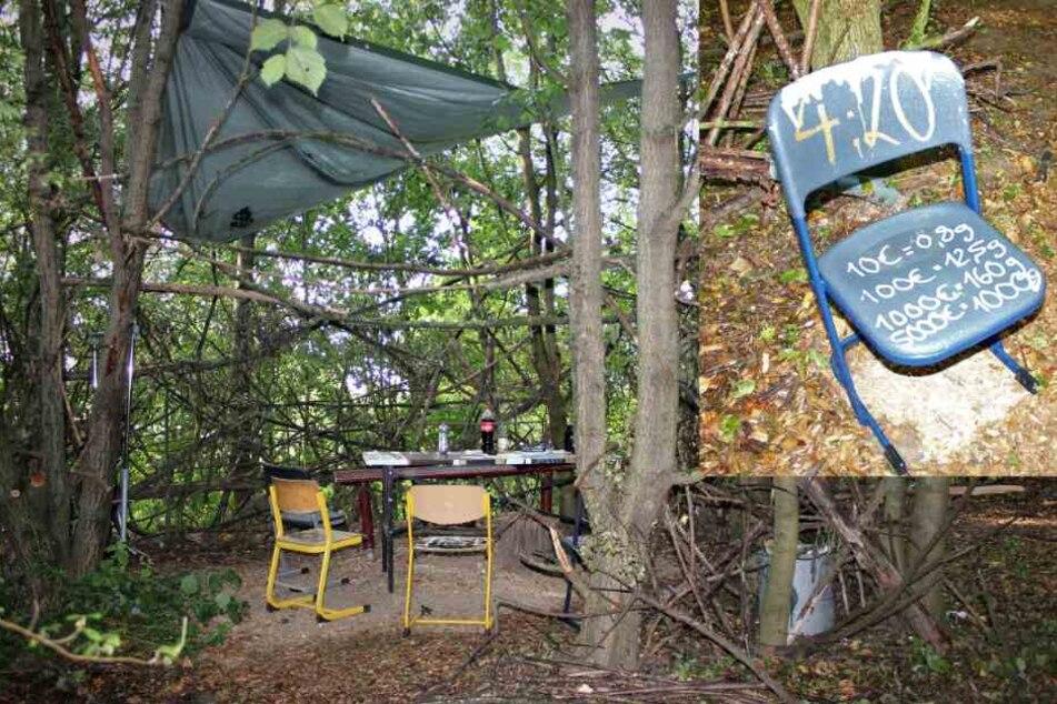 Auf frischer Tat ertappt: Drogendealer vertickt seinen Stoff von Waldstück aus