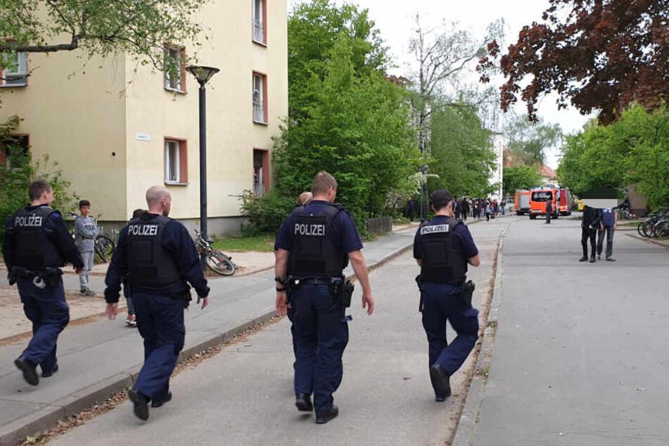 Beamte der Berliner Polizei sind vor Ort.