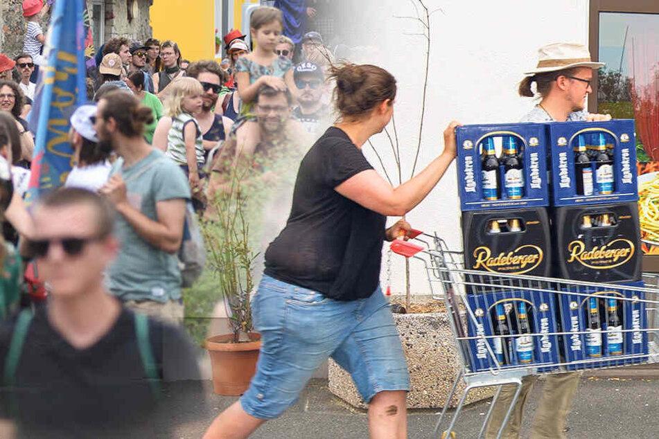 Biervorräte aufgekauft und bunter Protest: So wehrte sich Ostritz gegen das Nazi-Festival