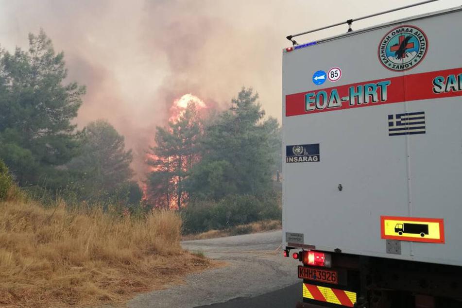 Am Samstag waren insgesamt unglaubliche 56 Brände in Griechenland ausgebrochen.