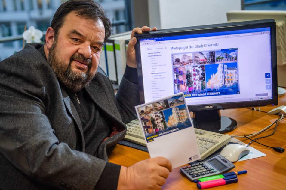 Ulrich Lange (57), Vorstand des Haus- und Grundbesitzervereins Chemnitz und Umgebung, saß in der Arbeitsgruppe zur Erstellung des Mietspiegels.
