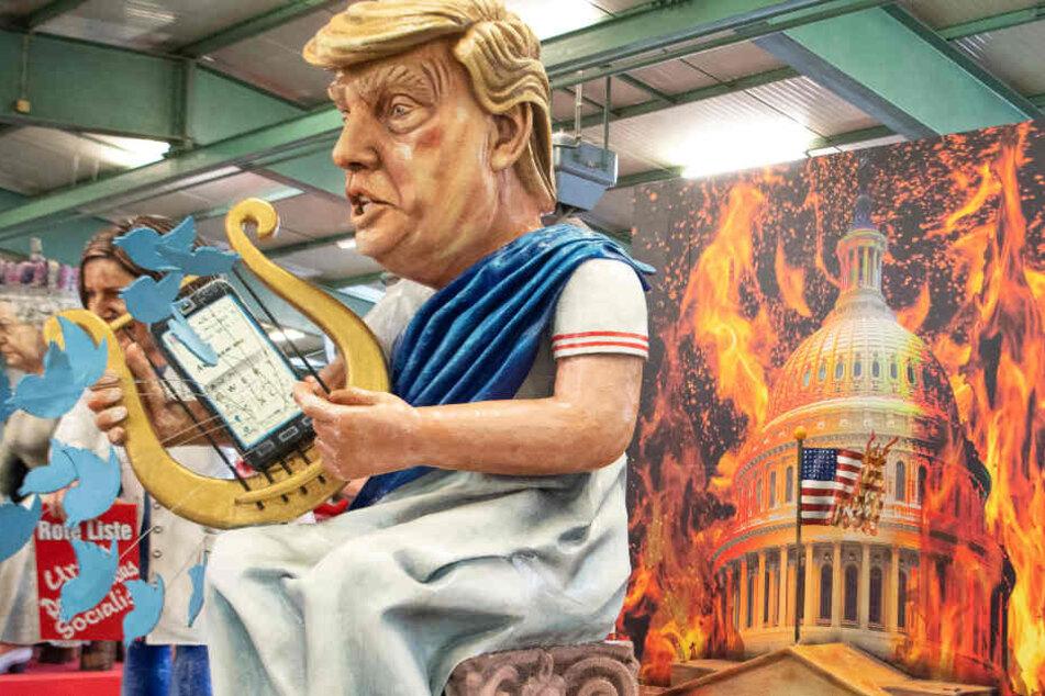 Der MCV zeigt den US-Präsidenten Donald Trump als Kaiser Nero.