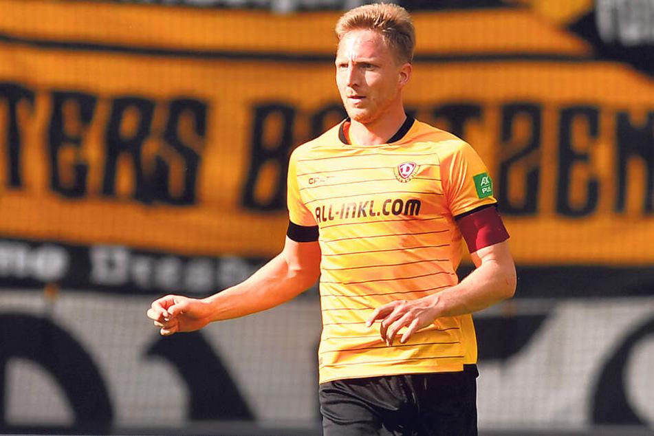 Dynamo-Kapitän Marco Hartmann ist in seine siebente Saison bei den Schwarz-Gelben gestartet. Er kam 2013 aus Halle.