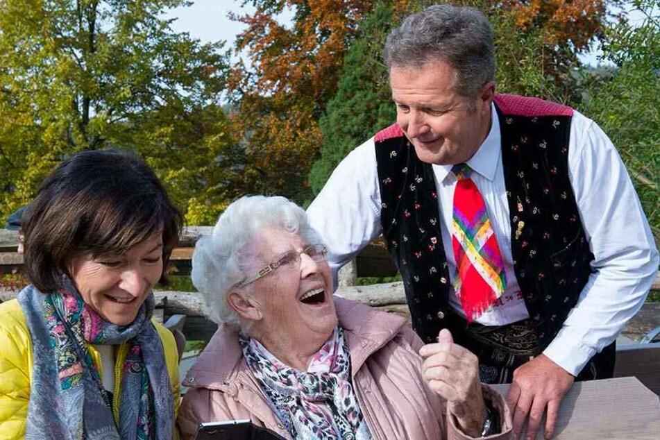 Sänger Norbert Rier (56) begeisterte im Erzgebirge seine Fans.