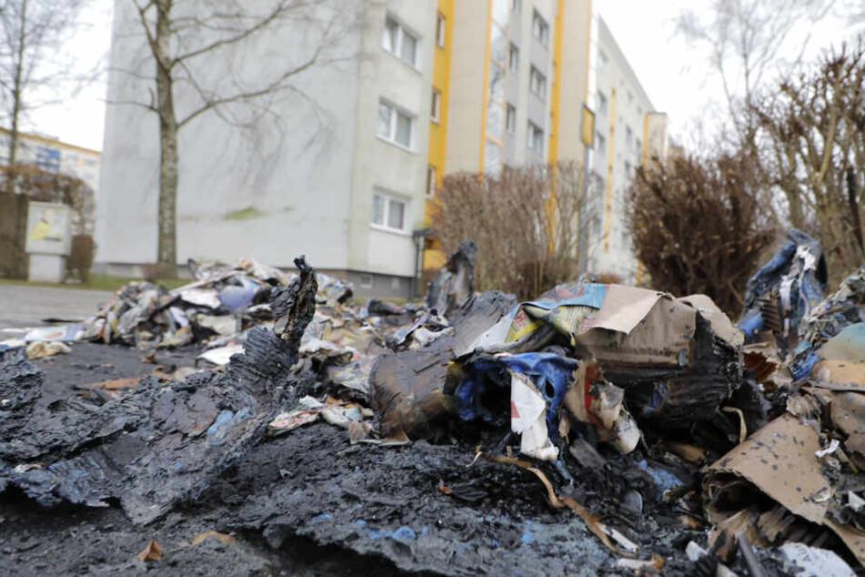 Container brennen: Ist wieder ein Brandstifter in Chemnitz unterwegs?