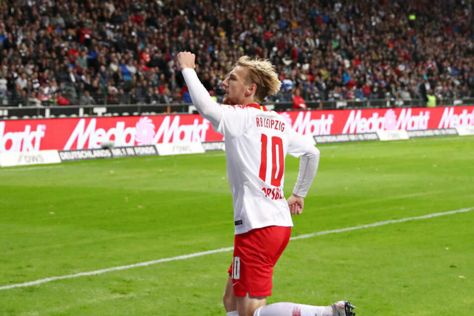 Sicherte RB immerhin einen Punkt in Frankfurt: Emil Forsberg.