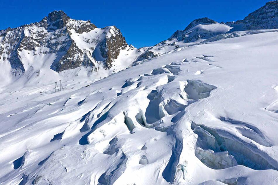 Gletscherspatlen im Schweizer Skigebiet Saas Fee.