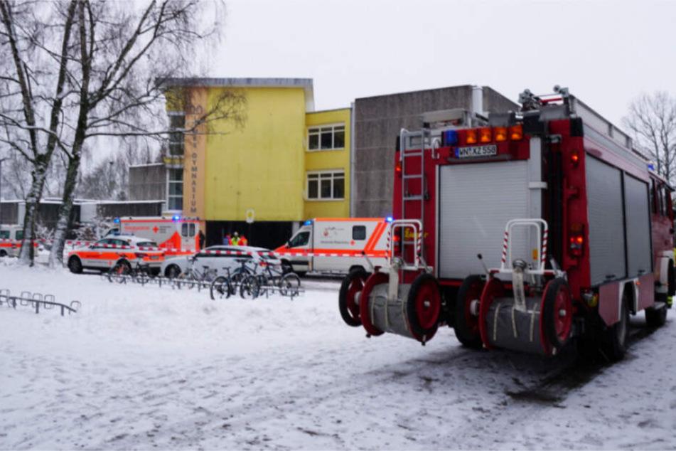 Das betroffene Klassenzimmer wurde von der Feuerwehr gelüftet.
