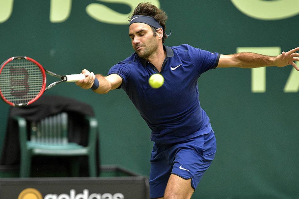 Roger Federer ist der Liebling der Haller-Tennis-Fans. Auch 2017 ist er voraussichtlich mit am Start.