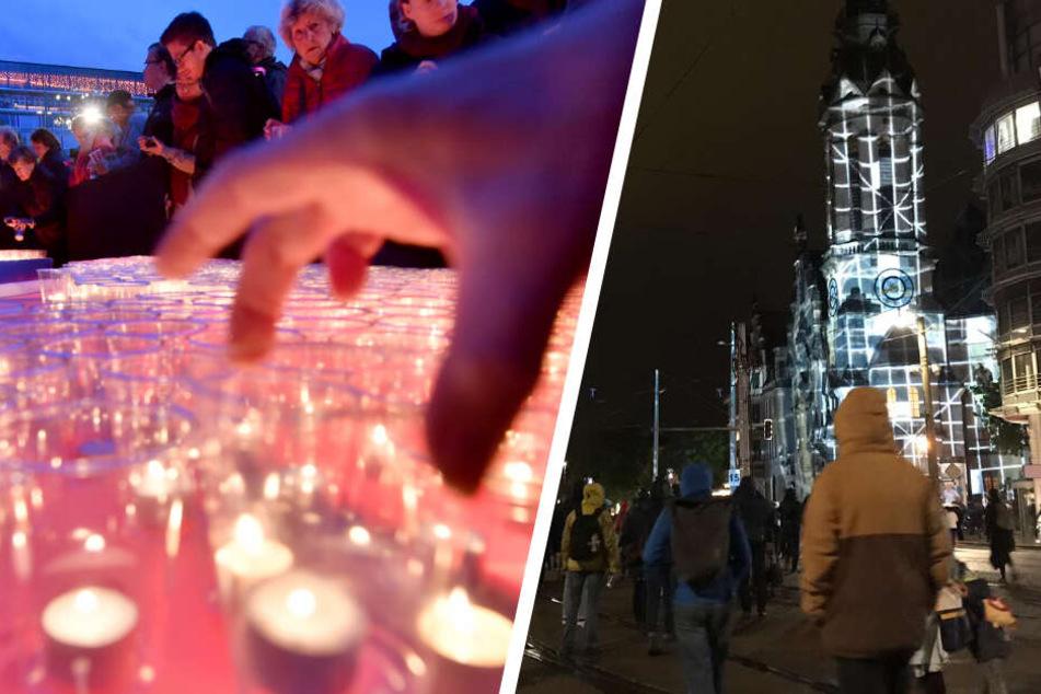 Lichtfest: So feierte Leipzig den 30. Jahrestag der friedlichen Revolution
