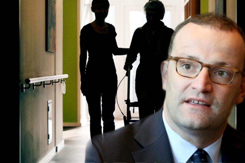 Jens Spahn will, dass Pflegekräfte mehr arbeiten.