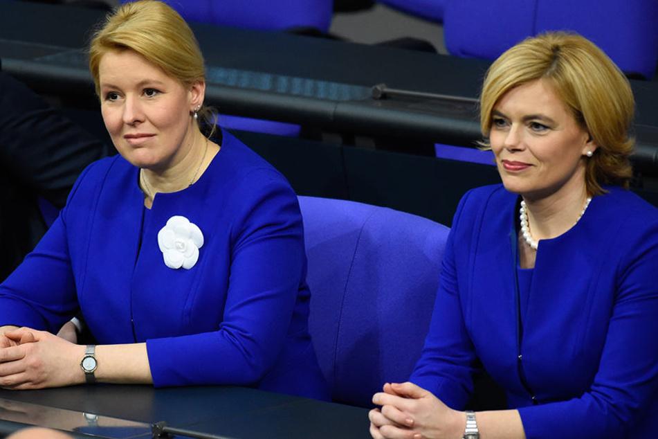 Zur Vereidigung erschienen Giffey und Klöckner im gleichen Kleid.