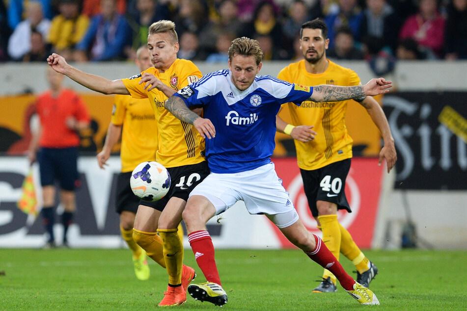 Luca Dürholtz (27, l.) war in seiner ersten Saison Stammkraft bei Dynamo Dresden in der 3. Liga.