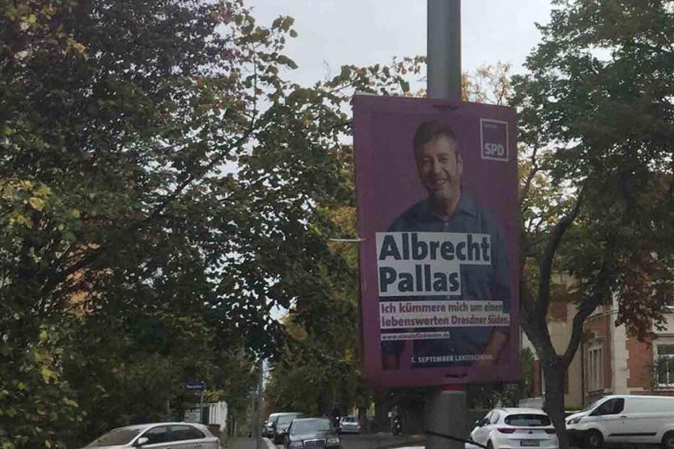 Albrecht Pallas (39, SPD) wirbt noch immer in Coschütz für sich.