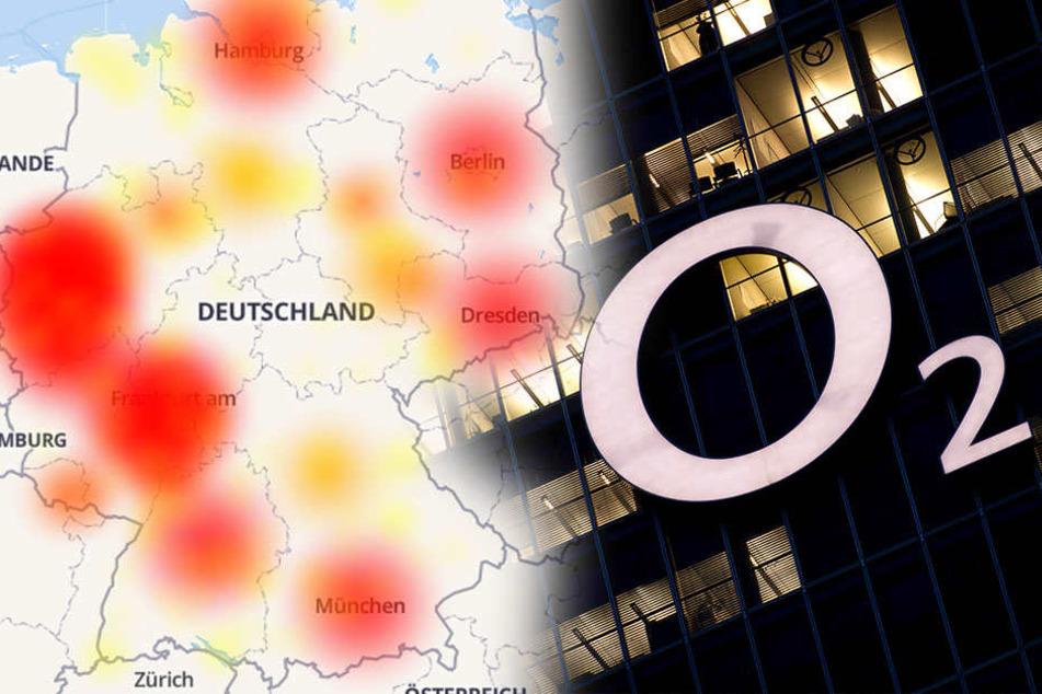 Bundesweit gibt es O2-Probleme.