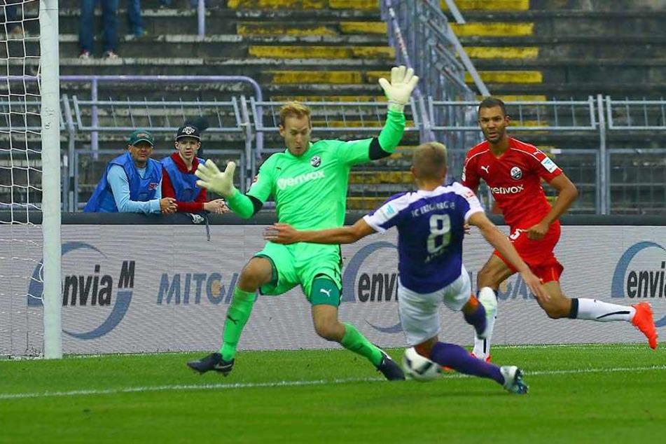 Es war das erste Tor der Zweitliga-Neuzeit. Nicky Adler traf gegen Sandhausen zum 1:0. Am Ende hieß es 2:0 für Aue.