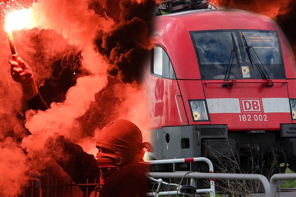 Die Bundespolizei vermutet, dass der Brand der technischen Anlage in Zusammenhang mit dem Sachsen-Anhalt-Derby steht. (Symbolbild)