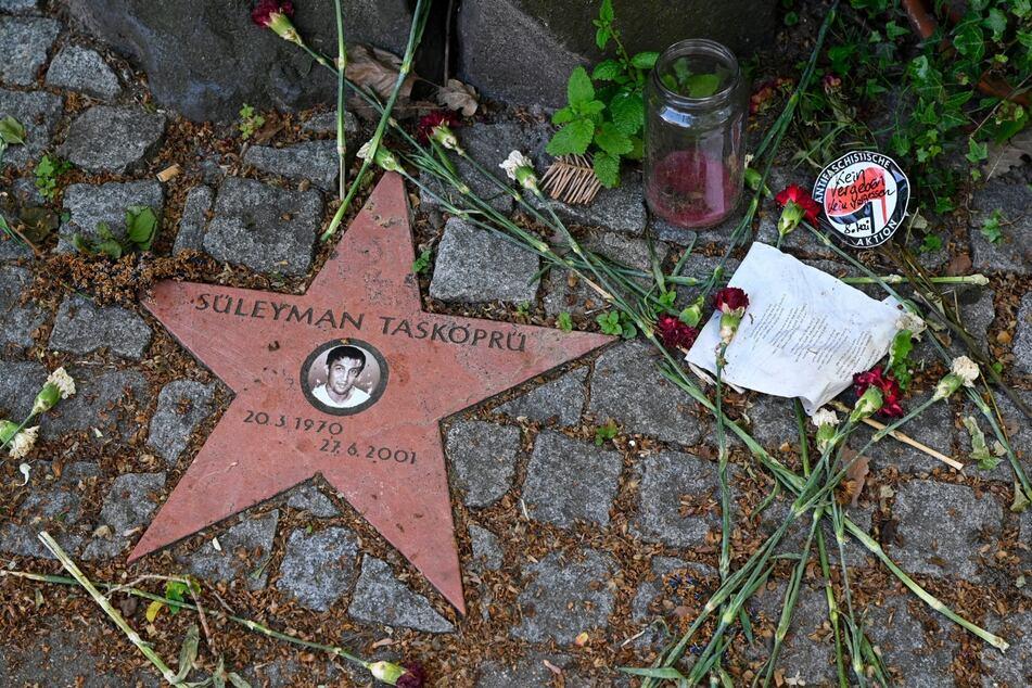 Das Mahnmal für Süleyman Taşköprü (†31). Er wurde in einem Gemüseladen in der Schützenstrasse vom NSU erschossen.