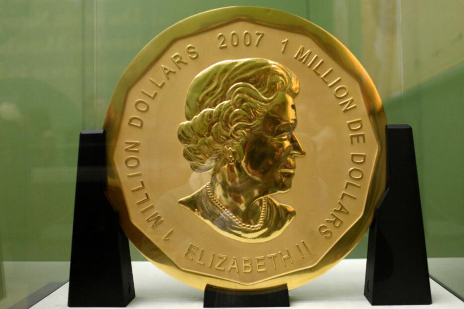 """Die 100 Kilogramm schwere Goldmünze """"Big Maple Leaf""""."""