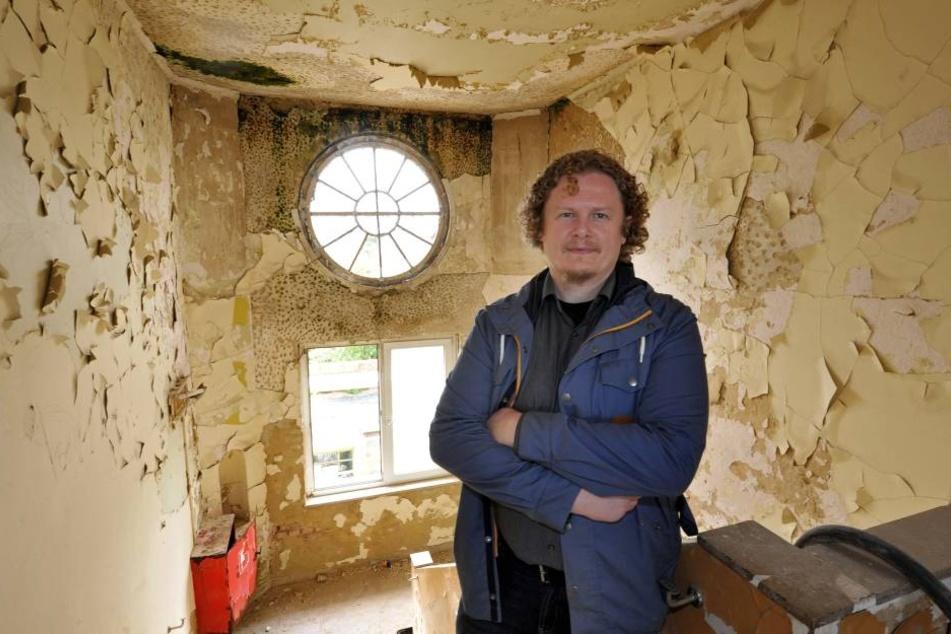 Lokomov-Chef Lars Fassmann  befürchtet bürgerkriegsähnliche Zustände am Sonnenberg.