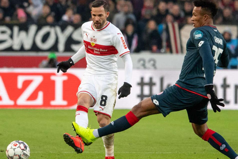 Gegen Mainz 05 am Ball: VfB-Kicker Gonzalo Castro.