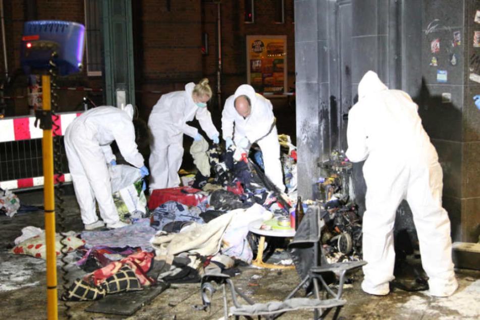 Nach Brandanschlag: Obdachloser (62) darf Klinik verlassen, Tatverdächtiger gefasst