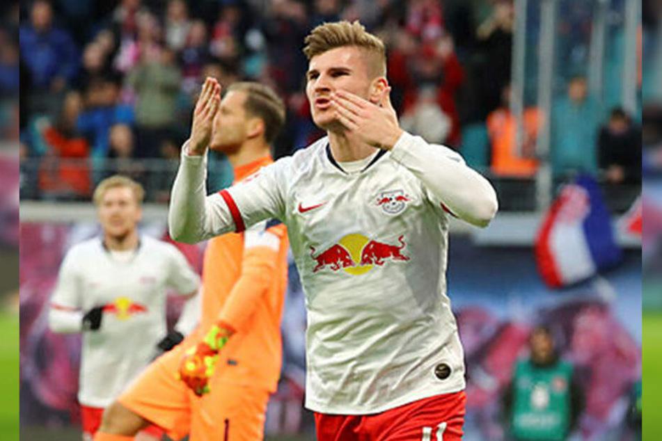 Timo Werner gelang gegen Hoffenheim ein Doppelpack, bei den letzten fünf Ligasiegen traf er ganze neunmal, hinzu kommen fünf Vorlagen.
