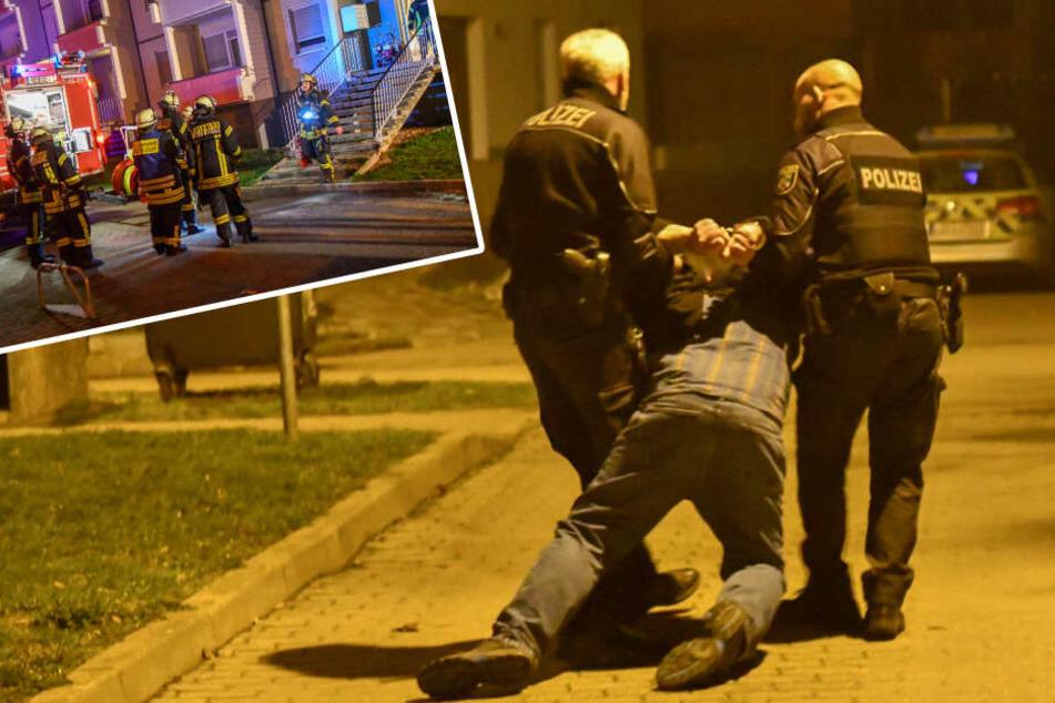 Brand in Magdeburger Mehrfamilienhaus: Mieter verletzt, Polizei nimmt Nachbarn fest