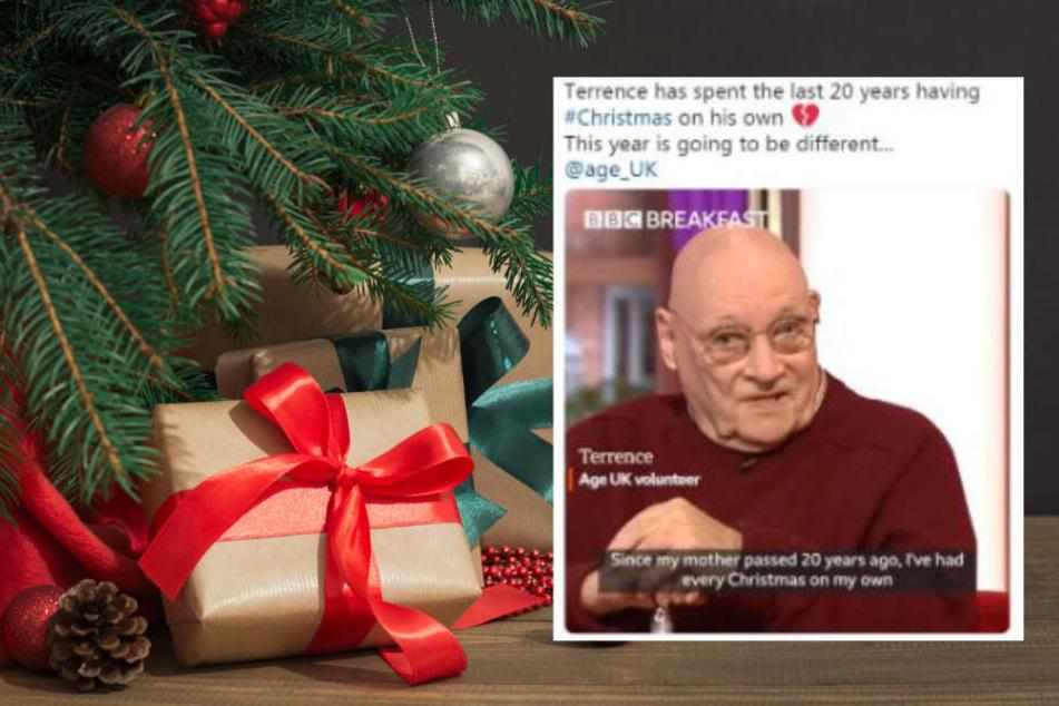 Weihnachtliche Überraschung rührt einsamen Mann zu Tränen