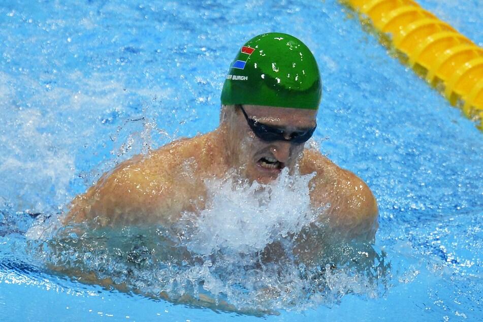 Brenton Rickard beim 100-Meter-Brustschwimmen in London.