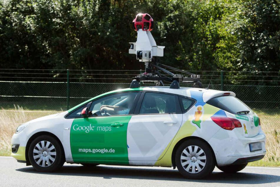 Mit Autos wie diesem fährt Google durch die Städte und dokumentiert die Straßen.