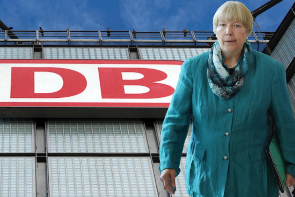EVG-Verhandlungsführerin Regina Rusch-Ziemba sitzt wieder mit der Deutschen Bahn an einem Tisch. (Bildmontage)