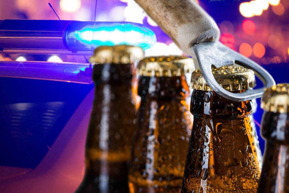 Schlagen statt trinken: Tätlicher Angriff mit vollen Bierflaschen