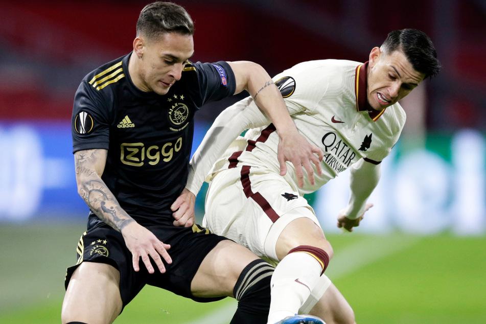 Neuzugang für den Flügel? Der FC Bayern München soll trotz geringer finanzieller Mittel Interesse an Antony (21, l.) von Ajax Amsterdam haben.