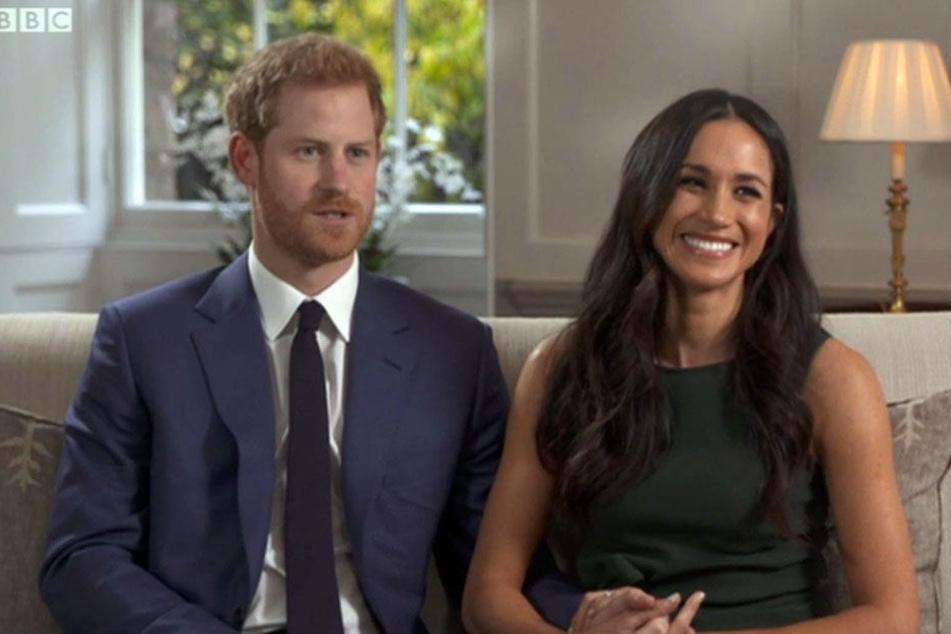 Prinz Harry und Meghan Markle bei ihrem Verlobungs-Interview.