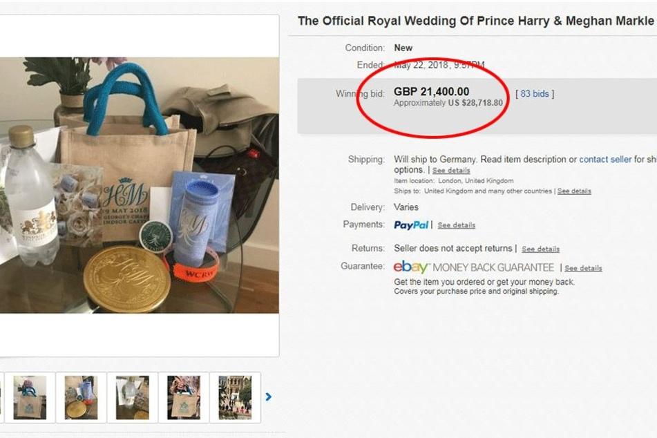 21.400 Pfund, also rund 24.350 Euro brachte die Geschenktüte.