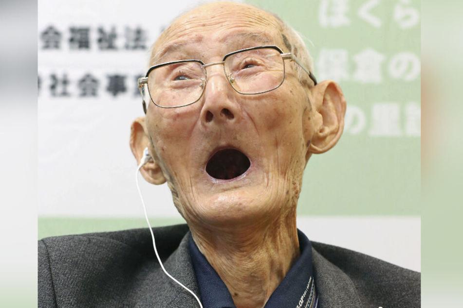 """Im Februar erhielt Chitetsu Watanabe vom Guinness Buch der Rekorde den Titel """"Ältester Mann der Welt"""". (Archivbild)"""