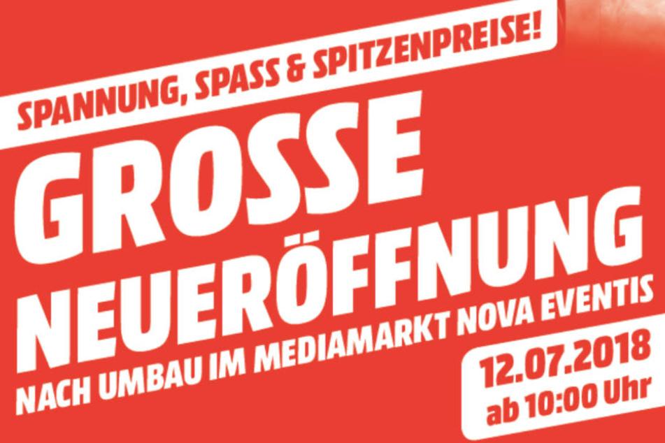 Los geht's am 12. Juli direkt ab 10 Uhr im MediaMarkt im EKZ nova eventis.