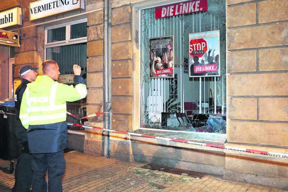 Auch für den Sprengstoff-Anschlag am Büro der Parteil DIE LINKE in Freital  soll die Gruppe Freital verantwortlich sein.