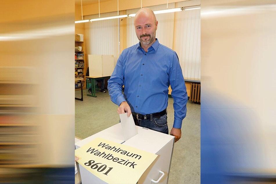 AfD-Frontmann Nico Köhler (42) will die drei Chemnitzer Landtagswahlkreise erobern. Für die AfD treten weiter Volker Dringenberg (46) und Steffen Wegert (62) an.