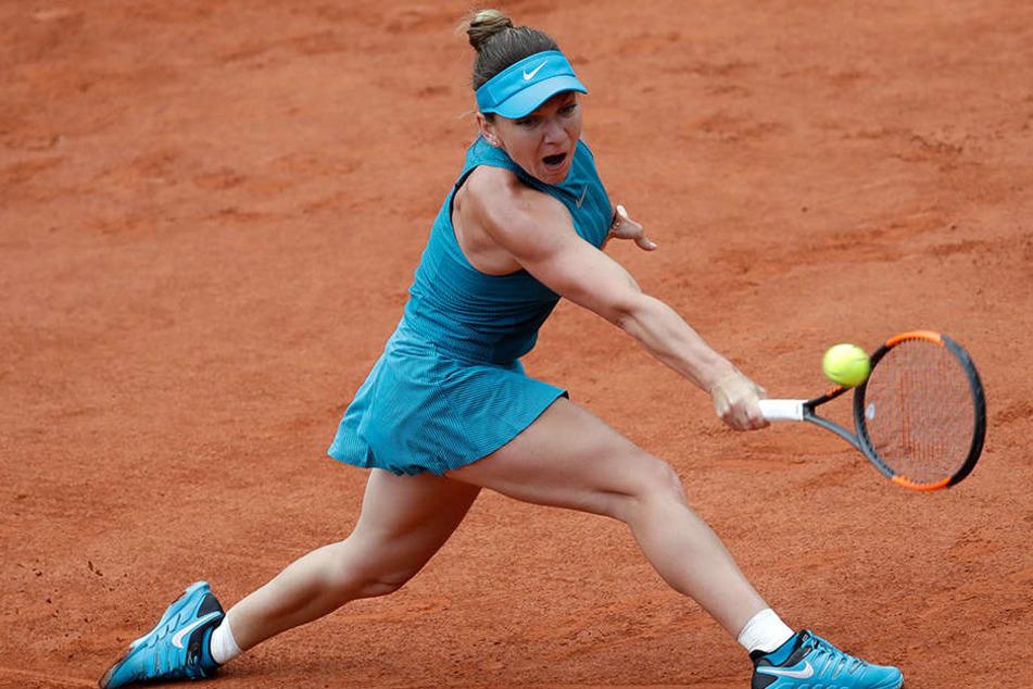 Simona Halep (26) bei ihrem Erstrunden-Match in Paris.
